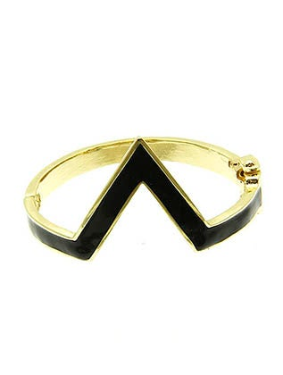 Image of CHEVRON HINGED (COLORED) BRACELET