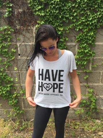 "Image of Womans ""Have Hope"" loose fit dolman tee"