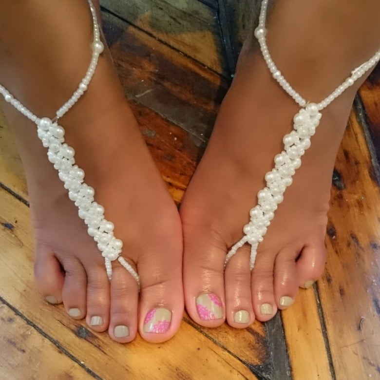 "Image of "" Pearl"" Foot Chain"