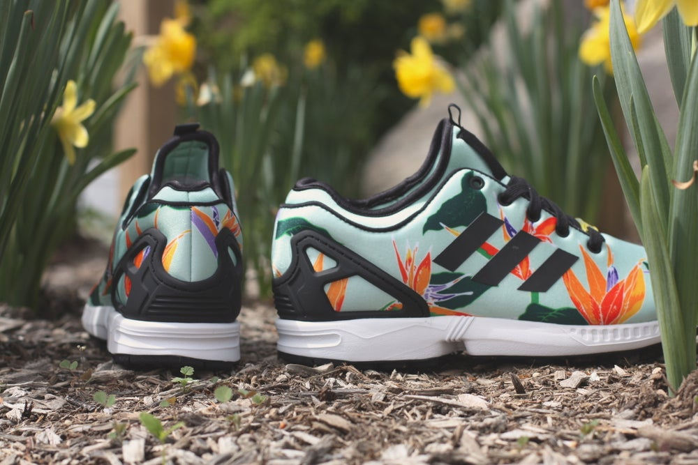 "Image of ADIDAS ZX FLUX nps ""mint floral"""