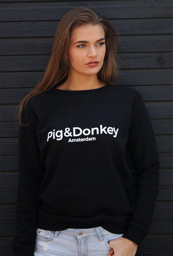 Image of Pig&Donkey Trui Dames Zwart