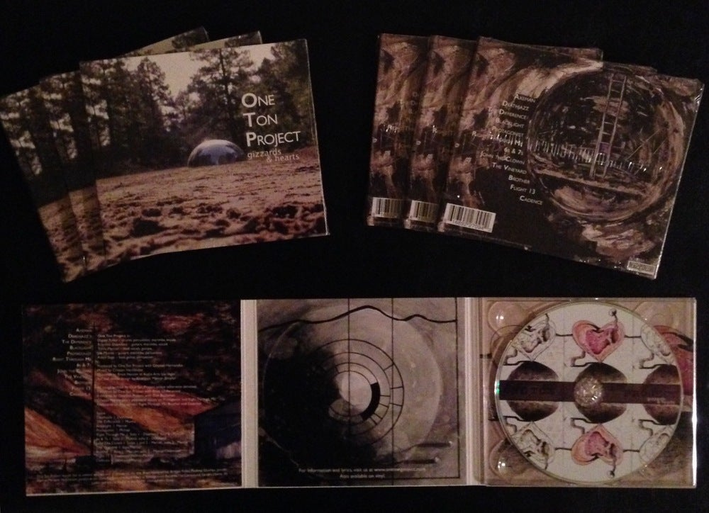 """Image of One Ton Project """"Gizzards and Hearts"""" CD"""