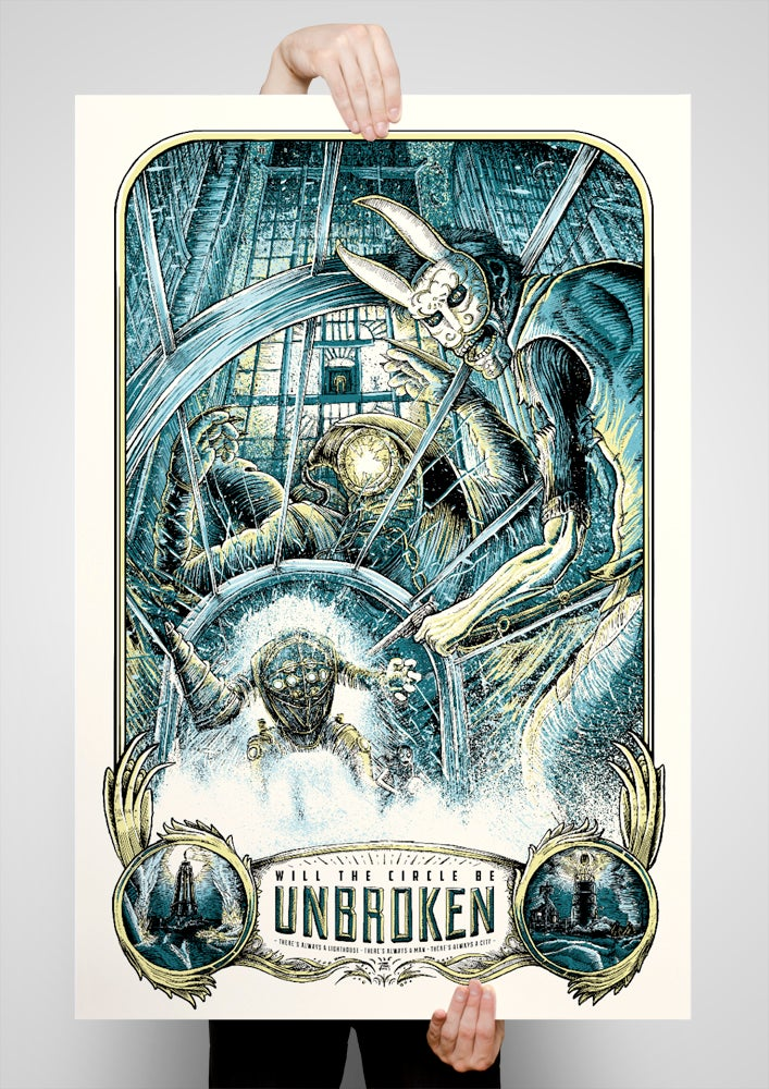 Image of Will the Circle Be Unbroken 24x36 Screen Printed Poster