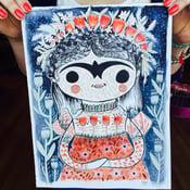 Image of Frida Paintings - Blues