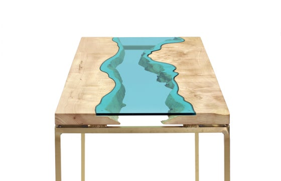 Image of maple + bronze river® table