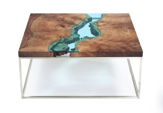 Image of square walnut river® coffee table