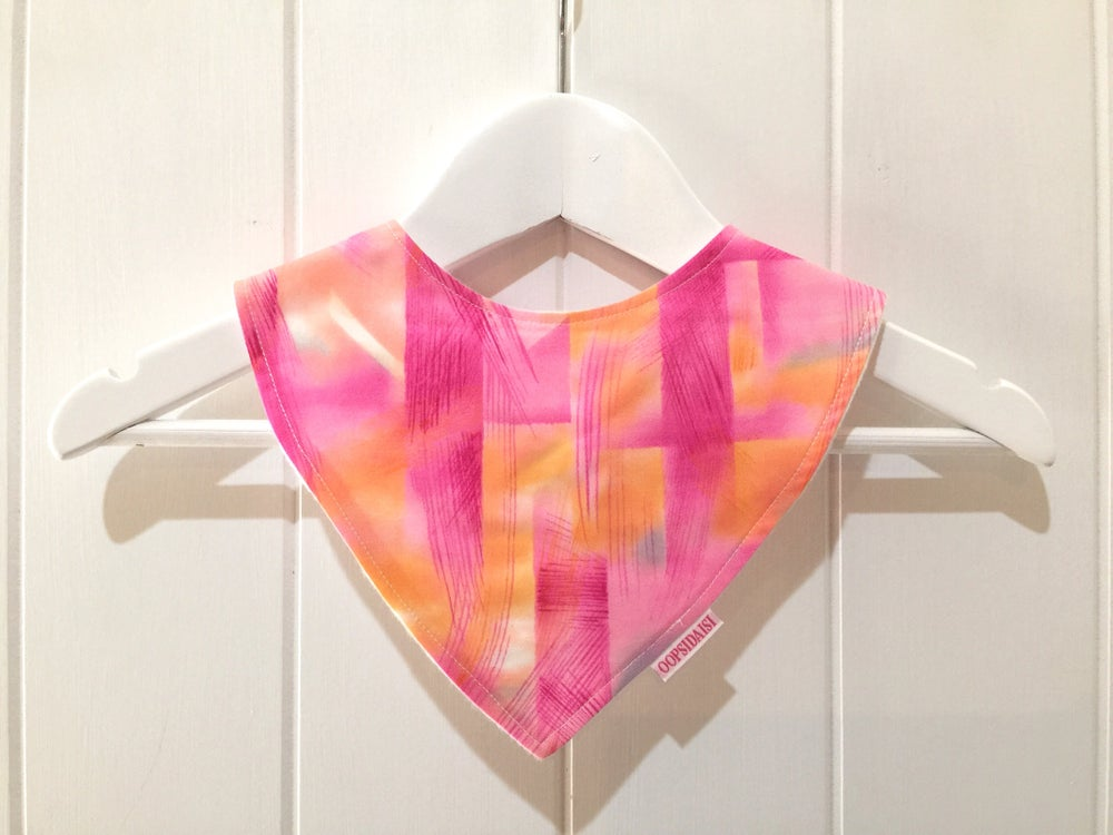 Image of Bandana Bib - Pink Watercolour