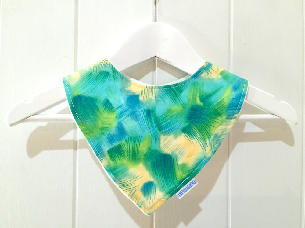 Image of Bandana Bib - Ocean Watercolour