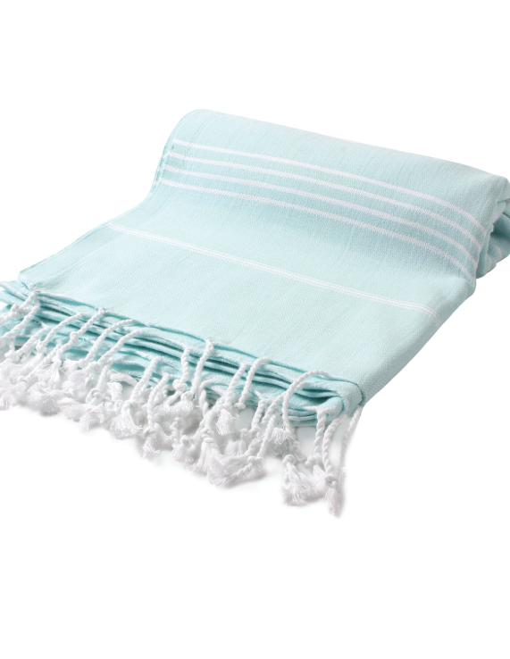 Image of Sea + Me turkish towel - aquamarine