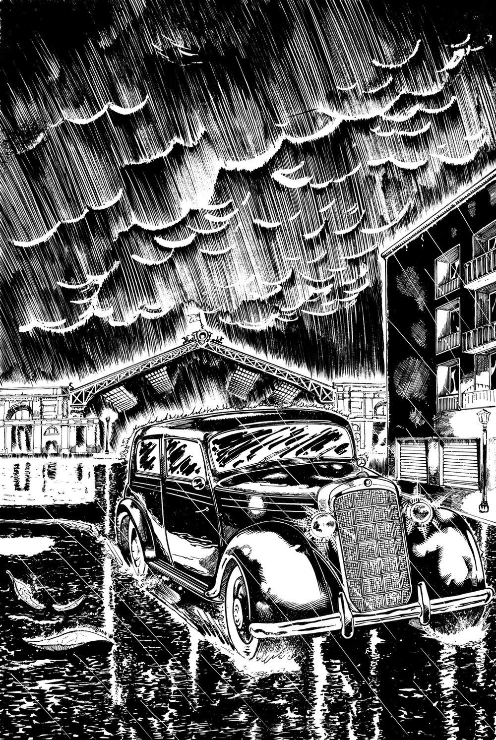 Image of Original Art - El Viudo ComicBook Page 01