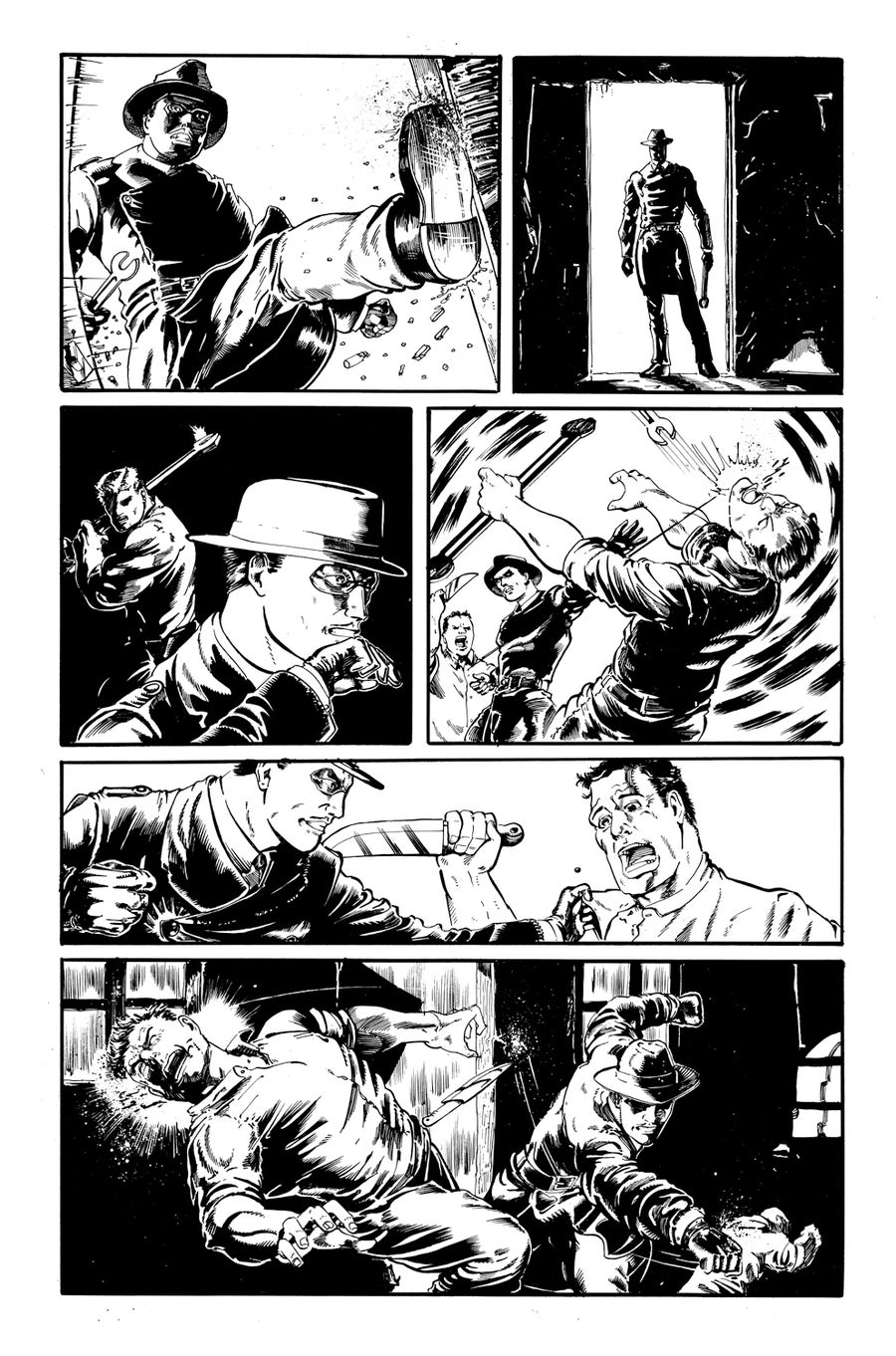 Image of Original Art - El Viudo ComicBook Page 04