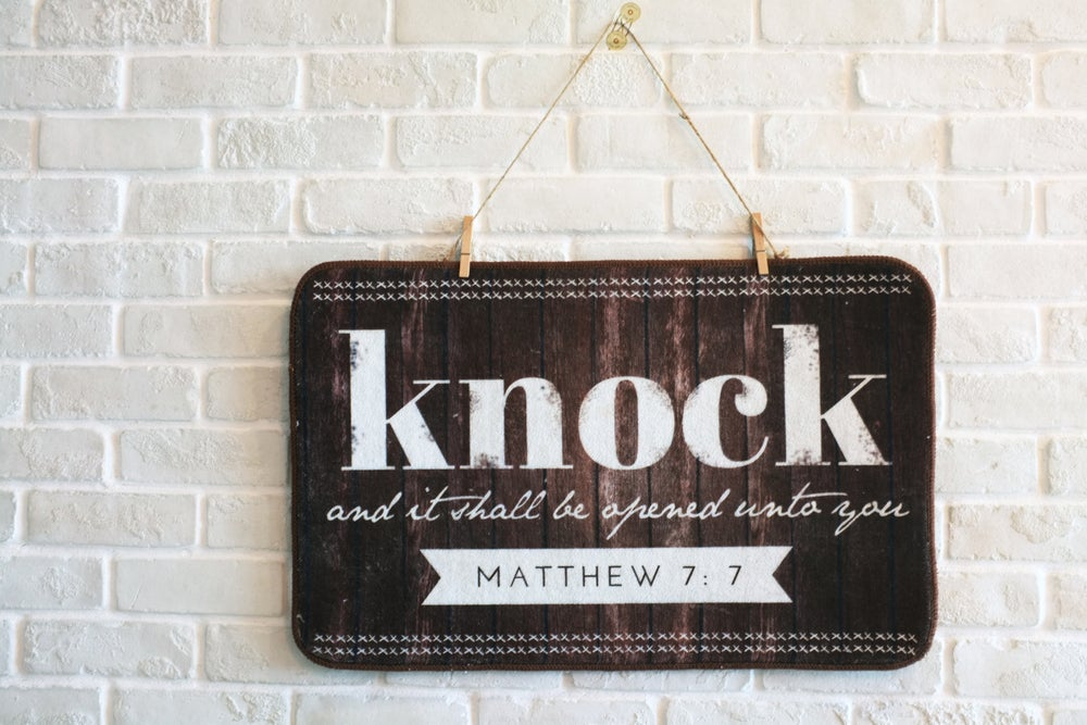 Image of Knock on the Door Mat