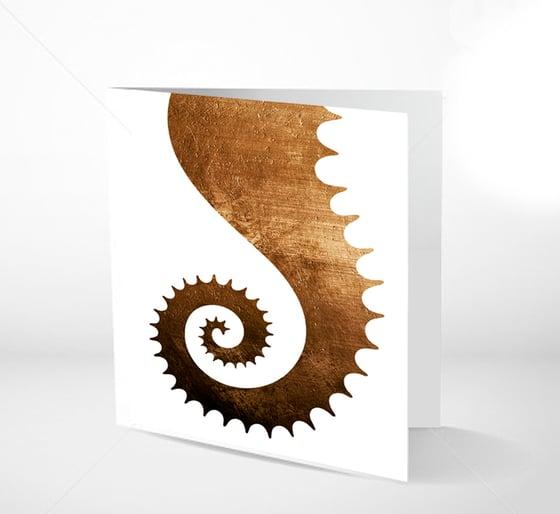Image of GRATULASJONSKORT - Seahorsetail 14 x 14