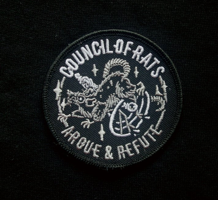 Image of Argue & Refute Stealth Embroidered Patch