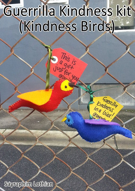 Image of Kindness Bird kit - share a little Guerrilla Kindness with someone who needs it!