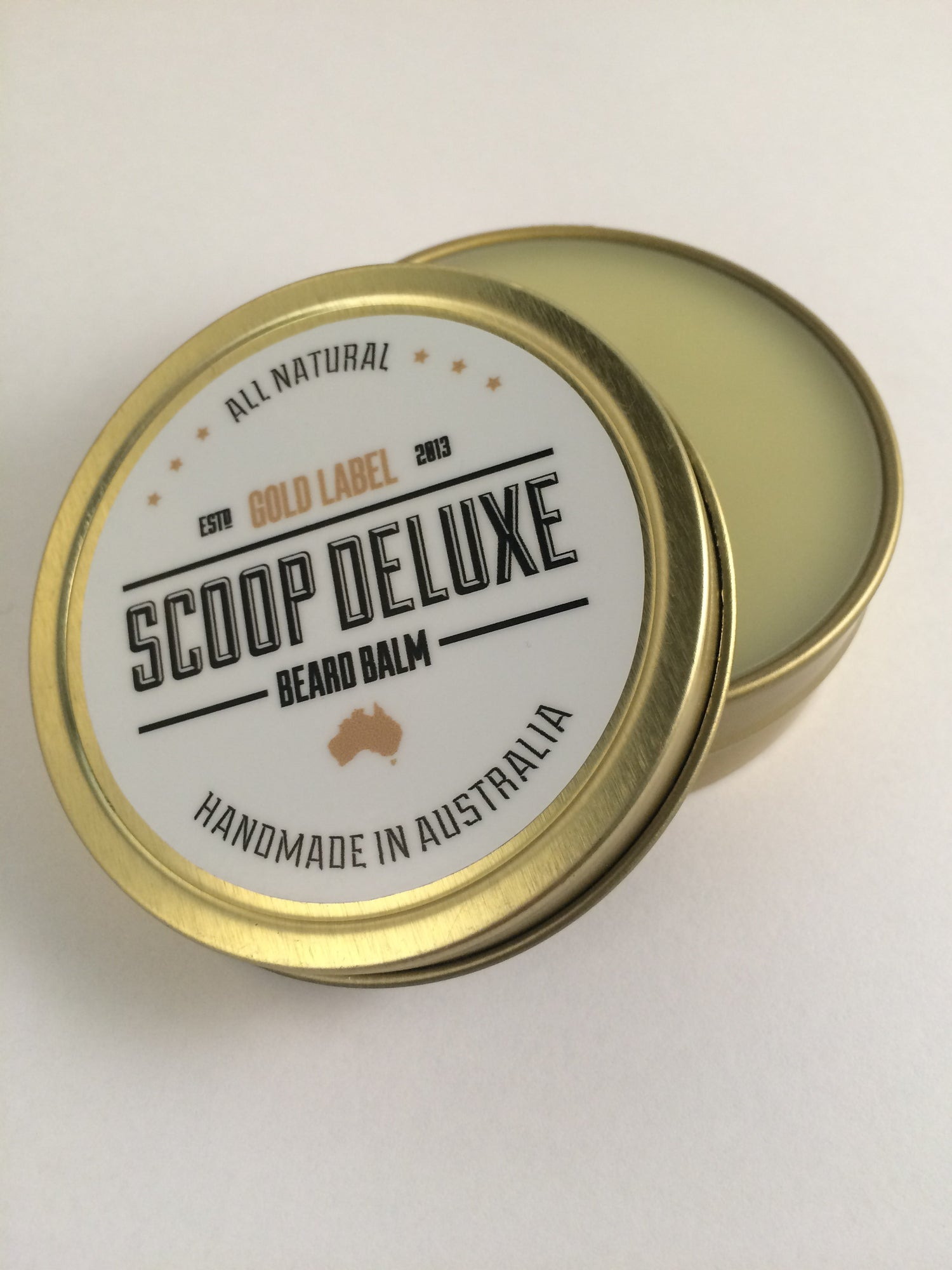 Image of 2oz Scoop Deluxe Beard Balm Gold Label