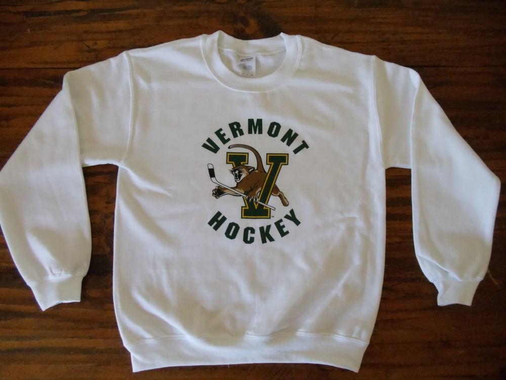 Image of University of Vermont Hockey Crew Neck Sweatshirt - Vermont Clothing - UVM clothing - UVM Store