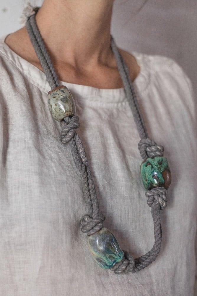 Three Bead Necklace