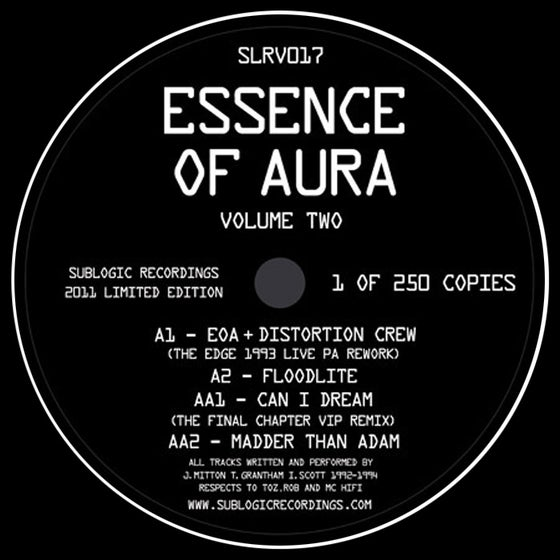 "Image of Essence Of Aura - Volume 2 EP - SLRV017 - 12"" Vinyl - SOLD OUT"