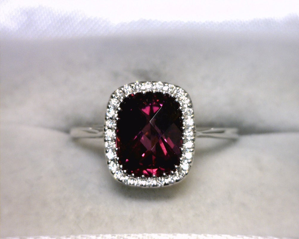 rings white gold tw with rhodolite garnet diamonds in ring
