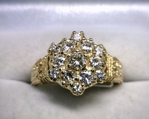 Image of 14K Yellow Gold Diamond Ring 1CT
