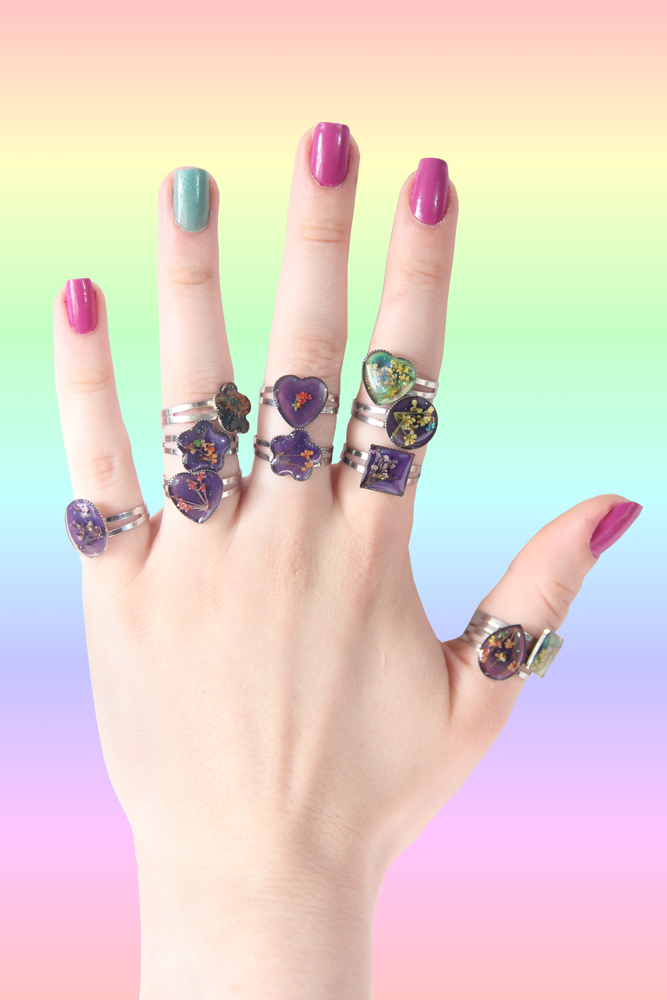 Image of SPACE FLOWER MOOD RING