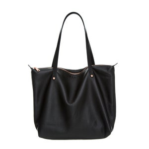 Image of Black Nappa Bespoke Zippered Tote
