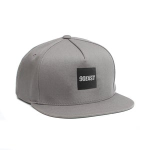 Image of 90East Logo Label Snapback Grey