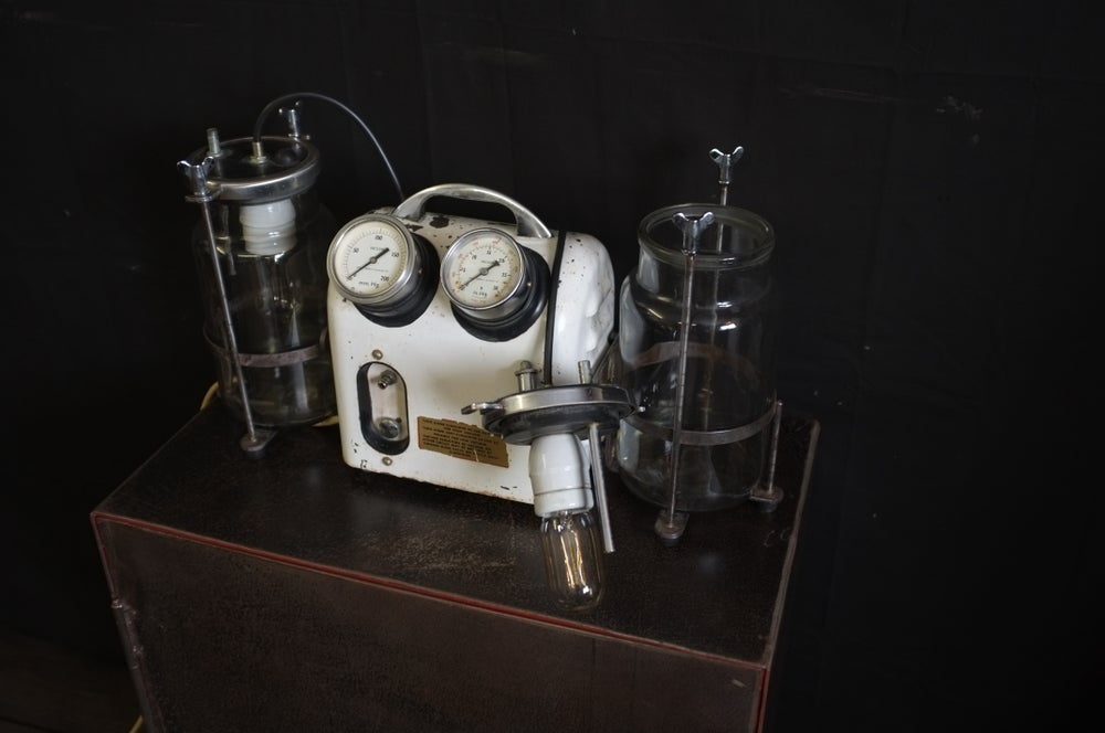 Image of Vintage Medical Vacuum Pump - Light