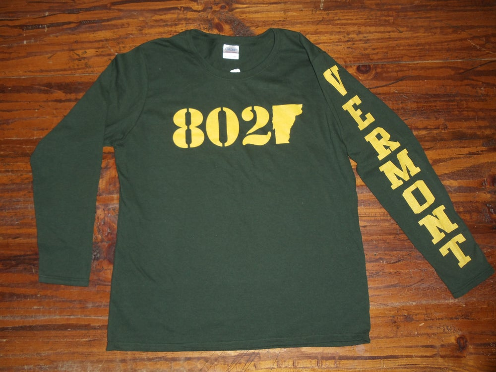 Image of 802 Vermont Long Sleeve Shirt - University of Vermont Burlington Shirt - Vermont Shirt