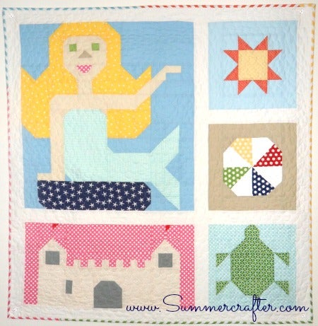 Image of Mermaid Dreams - Quilt Pattern PDF download