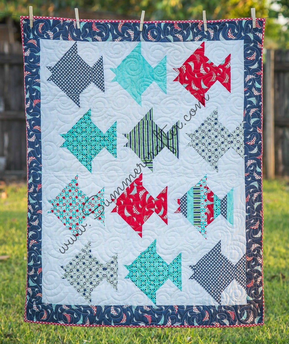 Just Keep On Swimming Quilt Pattern Pdf Download