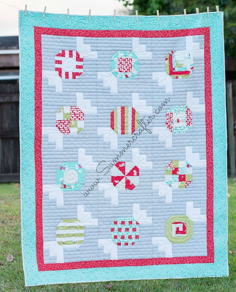 Image of Peppermints - Quilt Pattern PDF download