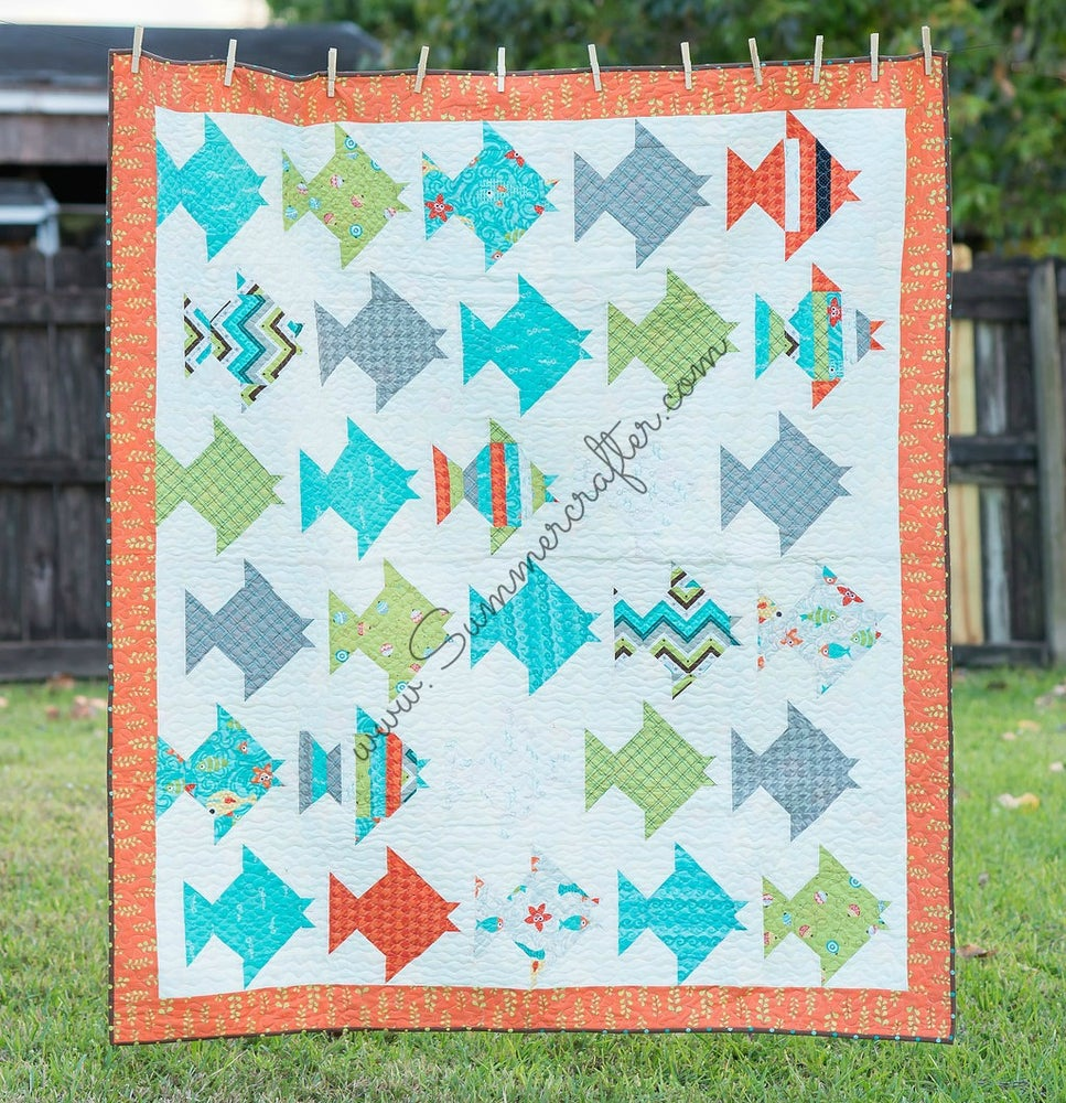 Image of Just Keep on Swimming - Quilt Pattern PDF download