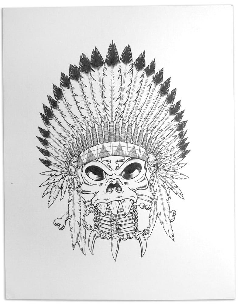 Image of Geronimop Original Illustration 11x14