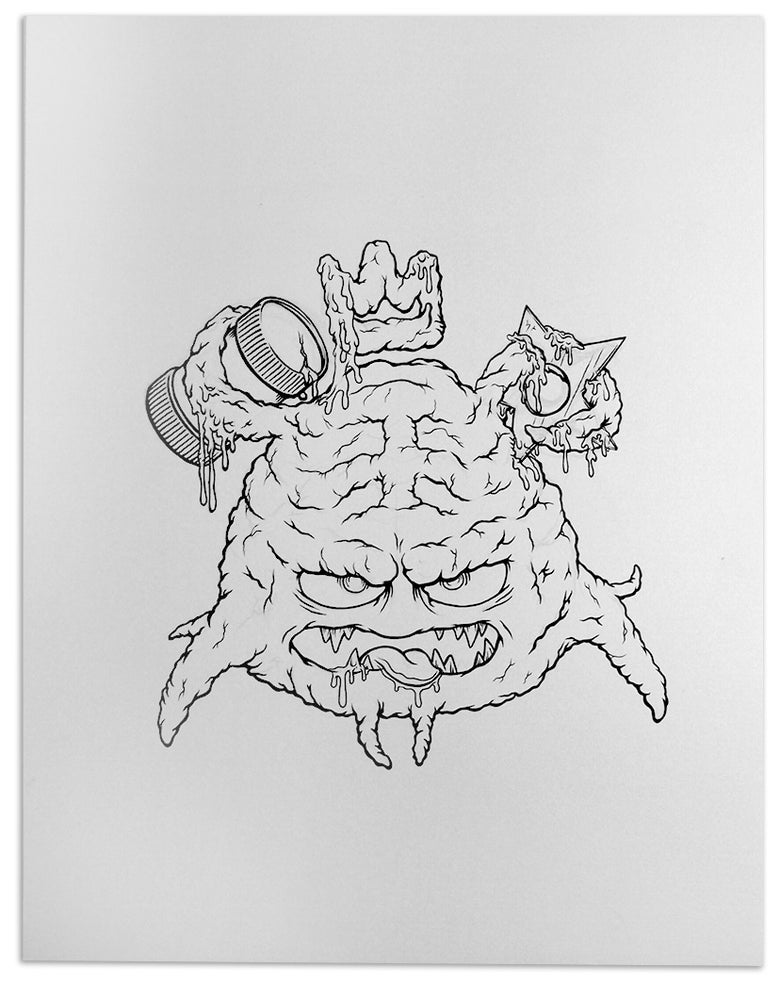 Image of Krang Mop Original Illustration 11x14