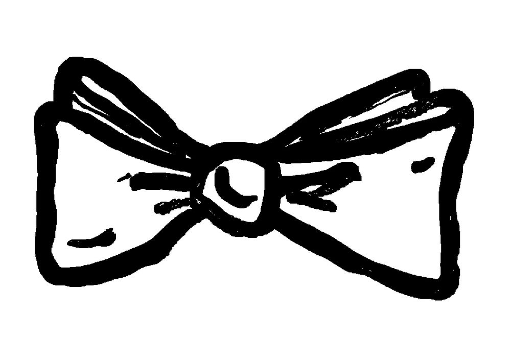 Image of BOW TIE OUTLINE PRINT