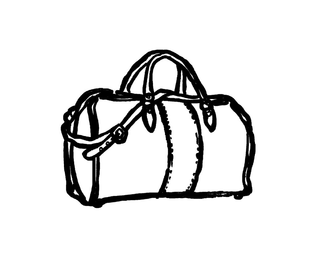 Image of DUFFLE BAG OUTLINE PRINT