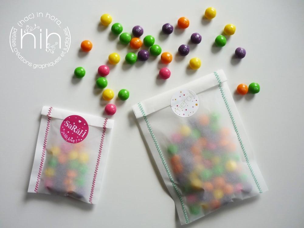 Image of 6 sachets translucides ∑zigzag∑ taille XS