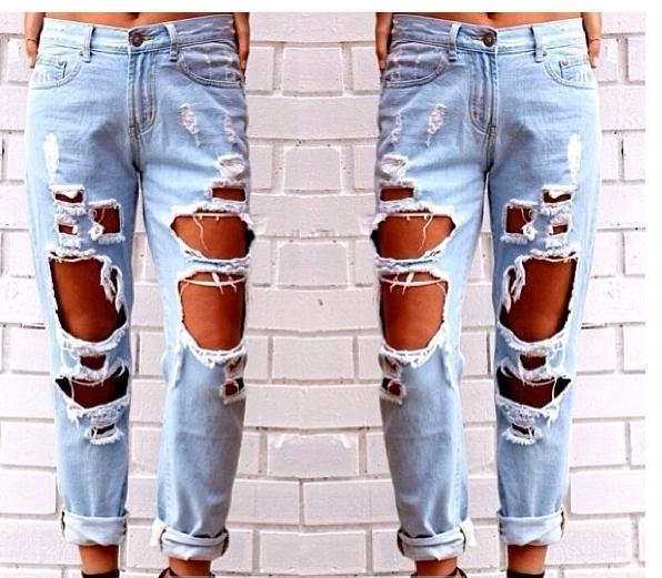 Image of CUTE HOLE FASHION JEANS