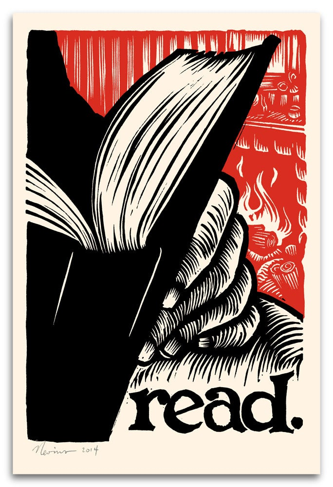 Image of read 12x18 silkscreen poster