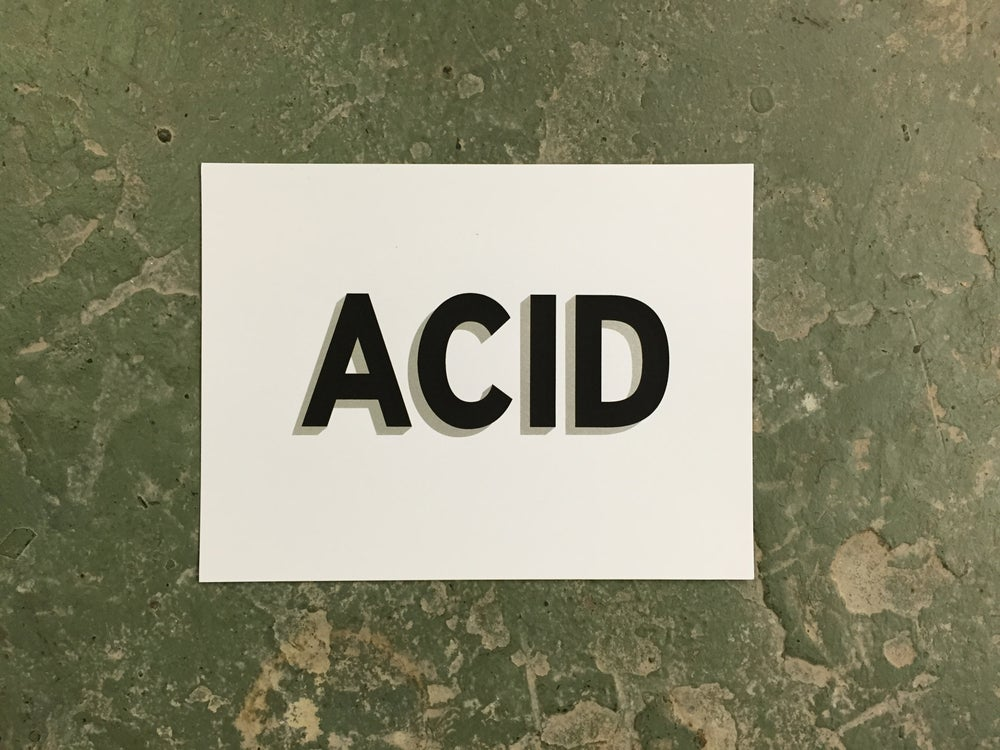 Image of ACID #1 - Silkscreened Print