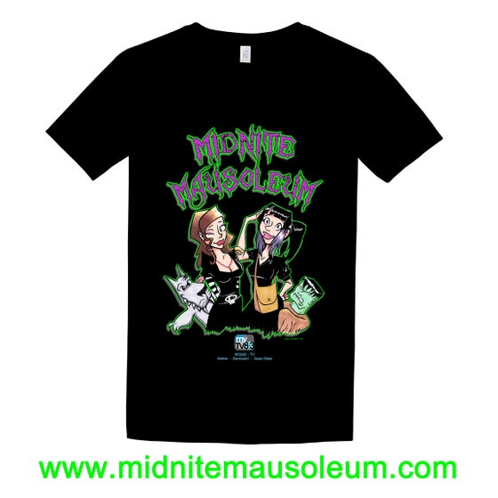 "Image of Midnite Mausoleum ""Cartoon Design"" Shirt BLACK"