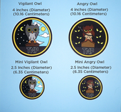 Image of Owl Stickers, Full Color