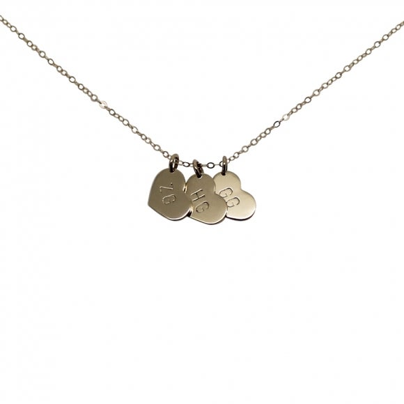 "Image of Personalised 9ct Gold ""Little heart"" Charms Necklace"