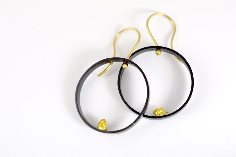 Image of Alluvial circle earrings