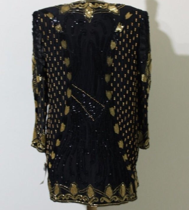 Image of Farrah Hand Beaded Dress