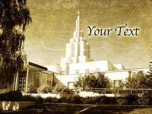 Image of Idaho Falls Idaho LDS Mormon Temple Art 005 - Personalized LDS Temple Art