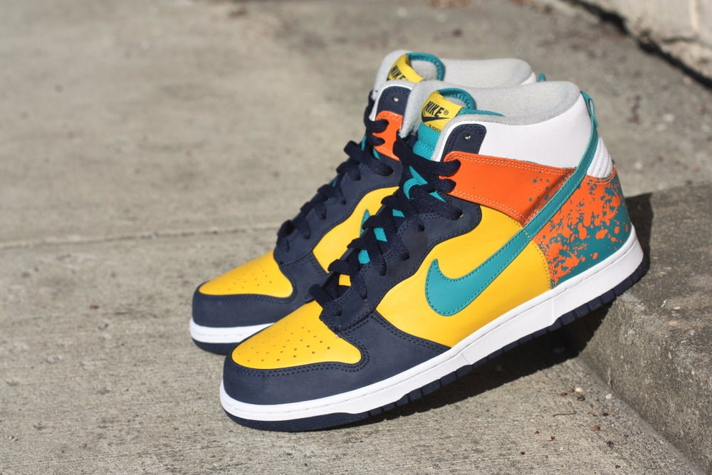 Image of NIKE DUNK HIGH PREMIUM PAINT 306968 731