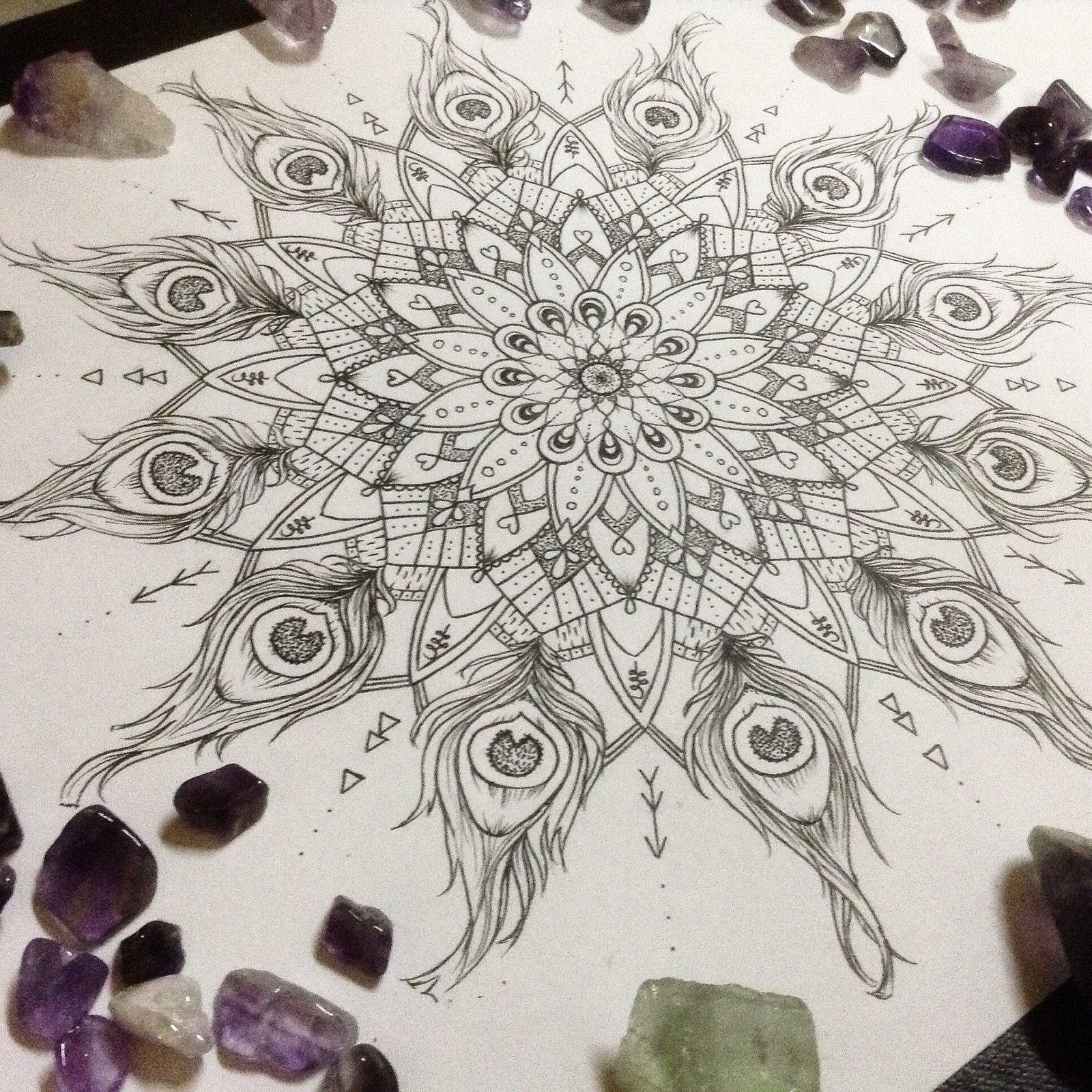 Auspicious Mandala A4 Print Artsy Delight